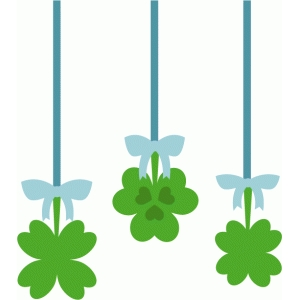 hanging shamrocks