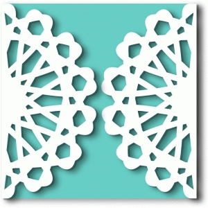 doily gate fold card