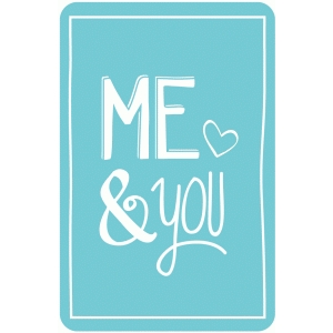 me and you card