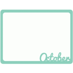 october journaling card