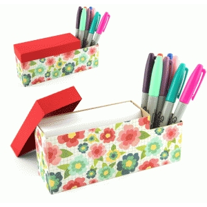 3x5 card and pen organizer
