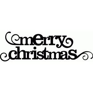 'merry christmas' flourish phrase