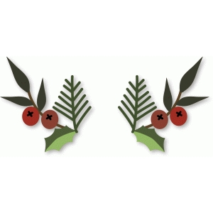 holly fir berries small flourishes