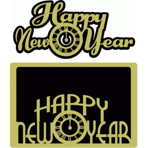 happy new year card & title