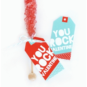 valentine card - rock candy