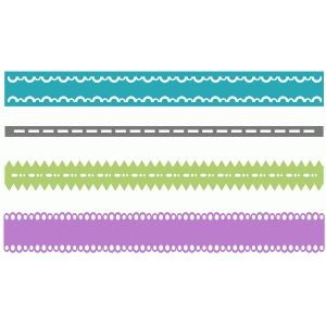 set of 4 lacy borders