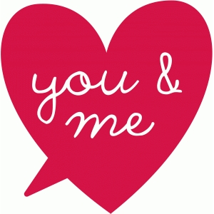 you & me speech bubble
