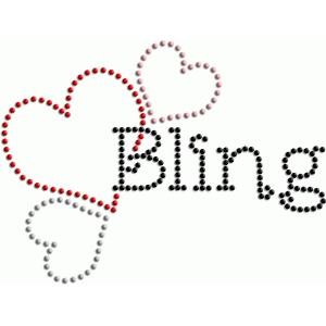 rhinestone bling love