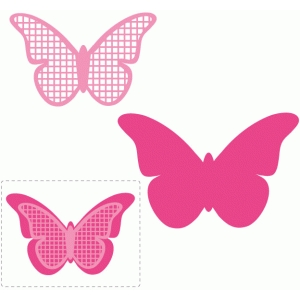 grid layered butterfly embellishment