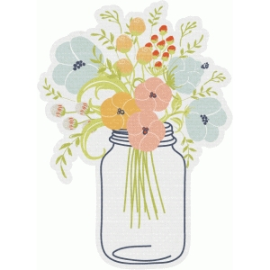 wildflower mason jar