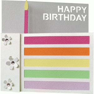 5x5 birthday cake card