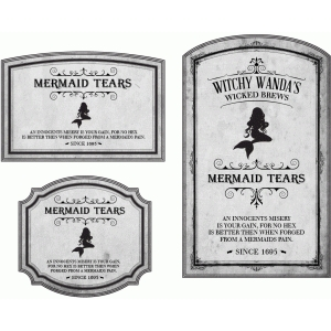 potion label mermaid tears