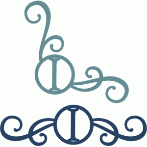 monogram seal flourishes i