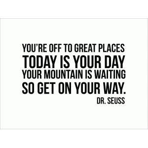 you're off to great places 3x4 quote card