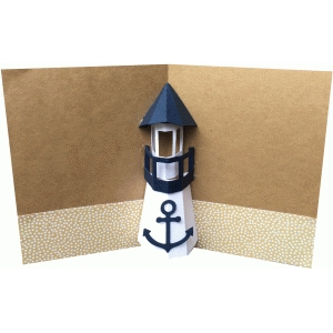 lighthouse pop up card