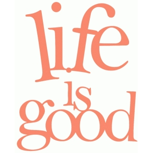 'life is good' phrase