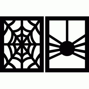 halloween flags - spider and web