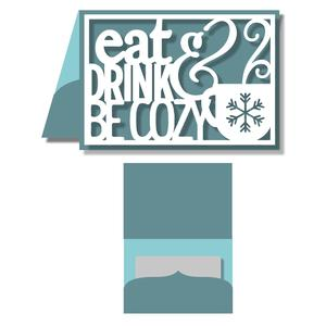 gift card holder - eat drink & be cozy