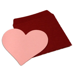 tiny heart note and envelope