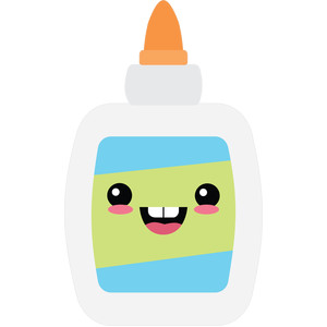 happy glue bottle