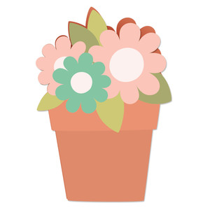 blooming flower pot card