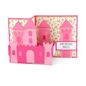 pop up box card birthday castle