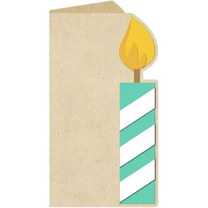 candle shaped card