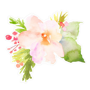 watercolor flower bunch