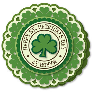 shamrock ring  st pat 6x6 card