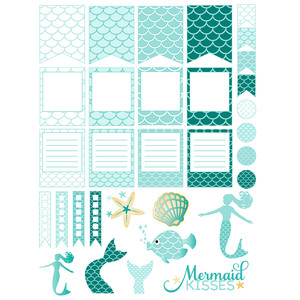 beneath the sea planner stickers