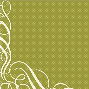 harvest green flourish dot pattern