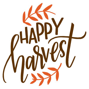 happy harvest handlettering