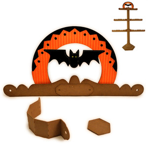 halloween bat finial tree stand