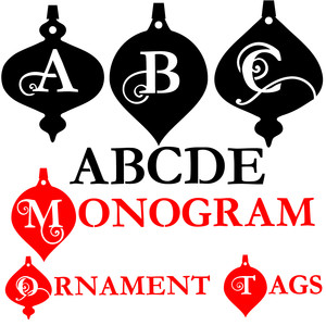 pn monogram ornament tags