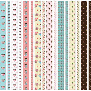 dessert washi strips