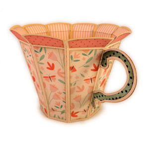 tea cup 3d container