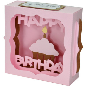 happy birthday gift card box
