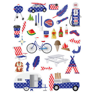 patriotic road trip planner stickers