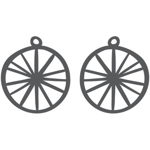 spoke earrings