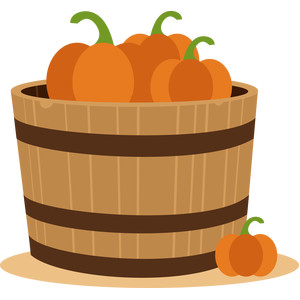 pumpkins in barrel