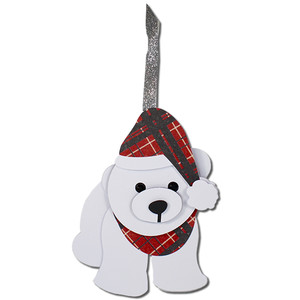 polar bear gift tag ornament