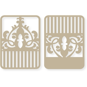 striped flourish cards