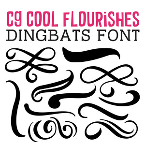 cg cool flourishes dingbats