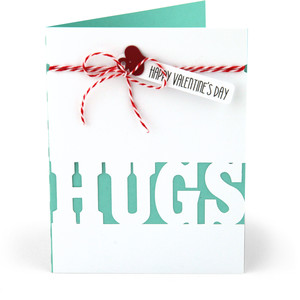 valentine card hugs