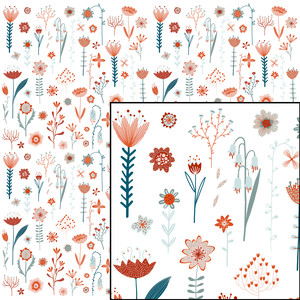 flowers of the summer pattern