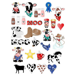 cow & western planner stickers
