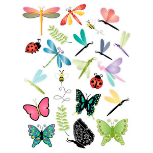 dragonflies and butterflies planner stickers