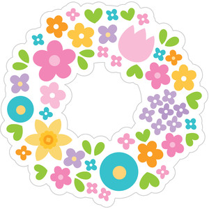 flower wreath - simply spring
