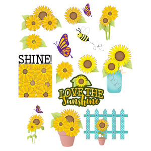 sunflower planner stickers