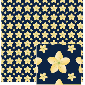 yellow flowered pattern